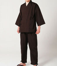 Japanese SAMUE Men's Traditional work Kimono wear Topps Pants Brown from JAPAN