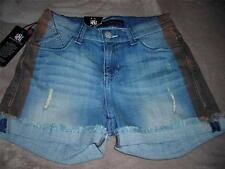 Womens Rock & Republic~FUGIROCK~Tequila Chaser~Frayed Blue Denim Shorts~$72~NWT