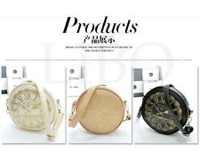 Women Round Clock pattern Retro cross-body shoulder bag handbag Satchel Purse