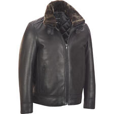 Men's Big & Tall Wilsons Leather Bomber Jacket w/ Faux-Fur Collar