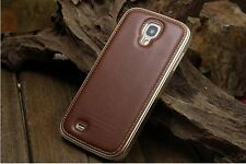 Super Luxury Aluminum & Cow Leather Case Cover For Samsung Galaxy S4 IV i9500