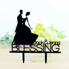 Wedding Cake Topper Personizal Silhouette for Groon and Bride Mr and Mrs Topper