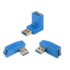 USB 3.0 Left Right 90 Degree Angled A Male Plug To Female Jack Adapter 3 Type