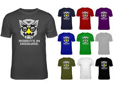 Mens Robots In Disguise Transformers Funny Face T-shirt NEW S-XXL