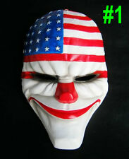 new Heist joker clown costume enforcer payday chains mask Halloween prop Cosplay