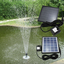 2 x Outdoor Solar LED Light Panel Pump Fountain Submersible Pond Pool Waterproof