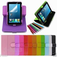 "Rotary Leather Case+Gift For 7"" Hipstreet Titan 2/Titan +/Aurora 2 Tablet GB3"