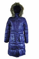 Womens Padded Coat Jacket Winter Hooded Warm Size 10 12 14 16