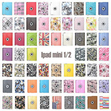 For Apple iPad MINI1/2/3 360 Rotating Magnetic PU Leather Case Smart Cover Stand