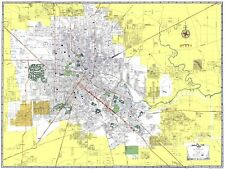 Old City Map - Houston Texas - Ashburn 1950 - 23 x 30.57