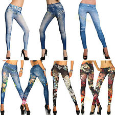 Sexy Womens Leggings /Jeans Jeggings Stretchy Skinny Pants 23 Patterns Design