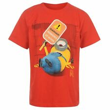 KIDS CHILDRENS JUNIORS RED DESPICABLE ME MINION SHORT SLEEVE T-SHIRT TOP
