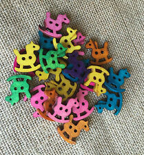 Gorgeous Wooden Craft Buttons x 10 New Shapes & Colours Scrapbooking Projects