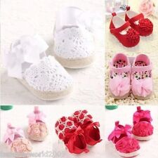 Infants Baby Grils Sandal Shoes Soft Sole Anti-slip Toddlers Newborn Fabric Lace