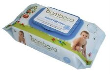 Bambeco Natural Baby Wipes Bulk Organic Extracts 4 or 6 pk 80 wipes per packs
