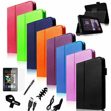 "7in1 Folio Leather Case Smart Cover for (2012) Original Kindle Fire HD 7""+Bundle"