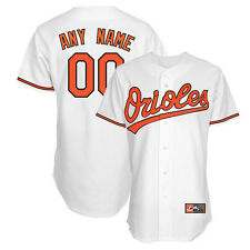 Personalized Any Name & # Baltimore Orioles White Home Replica Jersey YOUTH