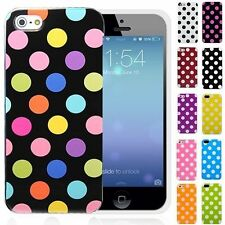 Cute Afro Polka Dot Soft Rubber TPU Gel Protective Case For iPhone 5C