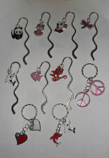 Enamel Bookmark or Keyring, Dog, Cat, Dolphin.... & Many more.....