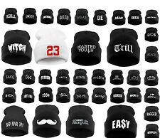 BEANIE HAT WASTED YOUTH  HATS COLORS LA Bad Day Day Swag Cash Easy Mustach Fake