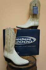 MENS LUCCHESE 2000 WINTER WHITE NILE CROCODILE WESTERN BOOT T3048