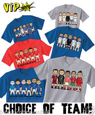 VIPwees Childrens T-Shirt European Country Football Icons World Cup Choose Team
