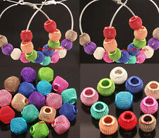20pcs Mixed Color Basketball Mesh Round/Cube Loose Spacer Beads HQ.