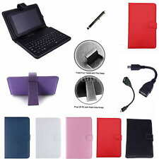 """Colorful Keyboard PU Case+Stylus For 9"""" Azpen A909/Supersonic SC-999 Tablet PC"""