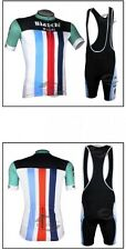 BIANCHI Cycling Clothing Jersey & Bib Shorts Kit Sets Coolmax Padding A68