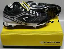 NEW in Box  Easton Phantom MD Team Baseball Metal Cleats Spikes BLACK  SIZE 9.5