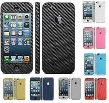 Carbon Fibre Full Body Decal Skin Cover Sticker Apple iPhone 4 4S 5C 5 5S 6 PLUS