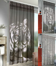 Lion Tiger Leopard Animal Print Lace Curtain Window Panel Fun Funky Cheapest