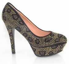 Womens Sparkling High Heel Stiletto Padded Insole Court Shoes