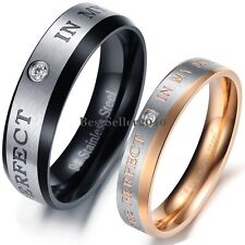 """ YOU ARE PERFECT IN MY MIND "" Ring Stainless Steel Couples Love Wedding Band"