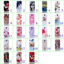 Flowers&Minion Battery Housing Door Back Cover Case For Samsung Galaxy S5 i9600