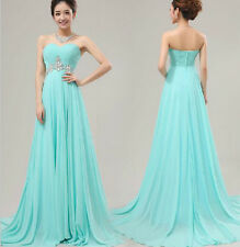 Long Chiffon Mermaid Evening Cocktail Formal Party Wedding Prom Dress Ball Gowns