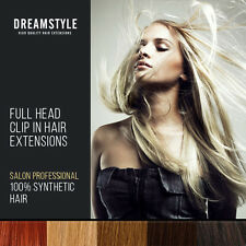 Clip In Hair Extensions Full Head Synthetic Fibre