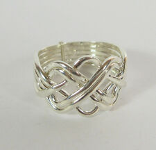 Puzzle Ring Celtic Knot Sterling Silver .925 Blake Bros Jewelry 6 Band Wire Six