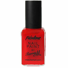 RRP £6 Barry M Bright Red Nail polish Paint varnish Fabulous colour