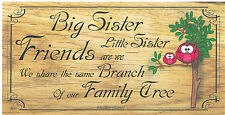 Beautiful wooden plaques shabby handmade signs gifts Sisters Brothers
