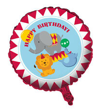 """Circus Time Party Happy Birthday Foil Balloon 18"""""""