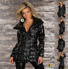 1016 New Sexy Black Casual Hip Length Women Quilted Jacket Online Shop Sale