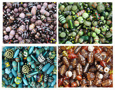 100g Indian Glass Handmade Lampwork Silver Gold Foil Beads