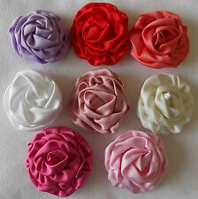 "Rose Bud Satin 3""Girls Flower Clip* Bridal Hair Accessories Party Bag Filler"
