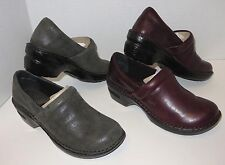 New Womens b.o.c BORN CONCEPT Norda Casual Leather Clog Loafer Shoes SZ 7 7.5 8