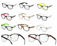 NEW RETRO WAYFARER +1.5 READING GLASSES WOMENS MENS TRANDY Eyeglasses few colors