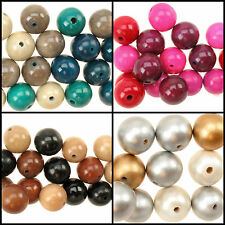 Chunky Wooden Spacer Round Glossed Beads Mix - 20mm or 22mm Jewellery Crafts