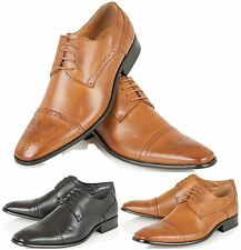 Mens Italian Style Brogue Shoes Formal Office Casual Party Boys Shoes Size