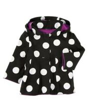 GYMBOREE PURRFECTLY FABULOUS  BLACK w/ DOTS HOODED JACKET 6 12 24  2 3 4 5 NWT