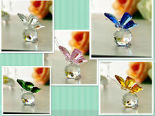 Attractile New Crystal Glass 5 Color Little Butterfly paperweight Wedding Gifts